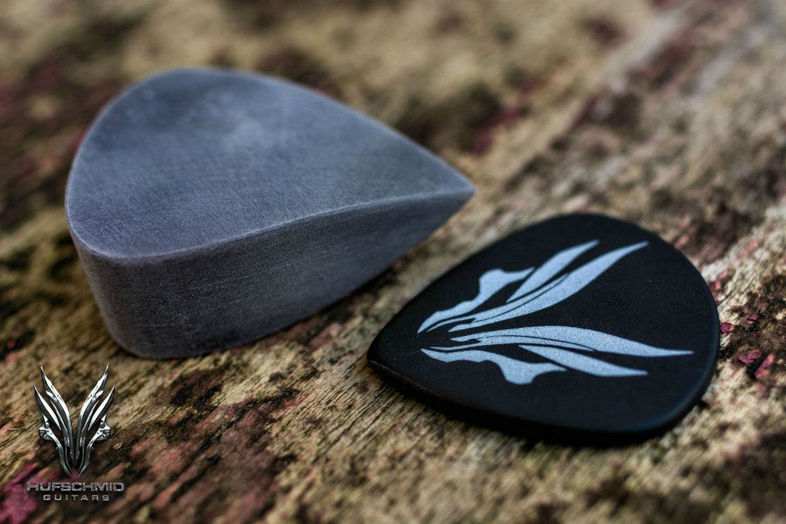 Image of The original 'GREY HUFTECH' plectrums!