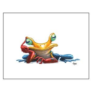 "Image of ""Pensive Tree Frog"" Print"