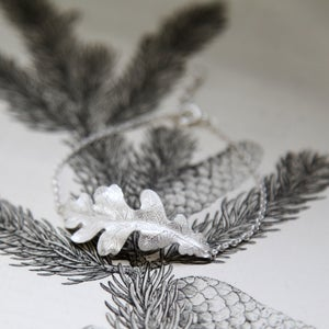 Image of large oak leaf bracelet
