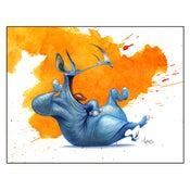 "Image of ""Laughing Rhino"" Print"