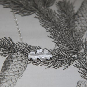 Image of *NEW* oak leaf necklace in silver or 9ct gold