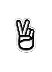 "Image of ""Victory Fingers"" Enamel Pin (P1B-A0552)"