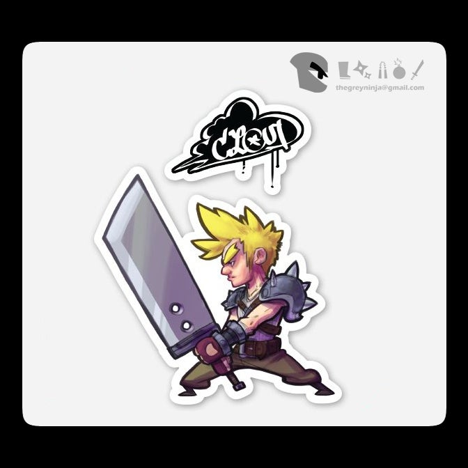 Image of FF7oz Stickers