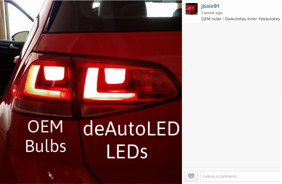 Image of Complete Brake / Turn / Tail LED Kit - Bright - Error Free - Fits: MKVII 2015+ Volkswagen GTI/Golf