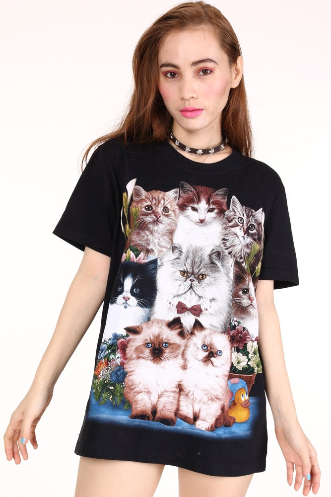 Image of Black Kitten Tee - Ready to post!