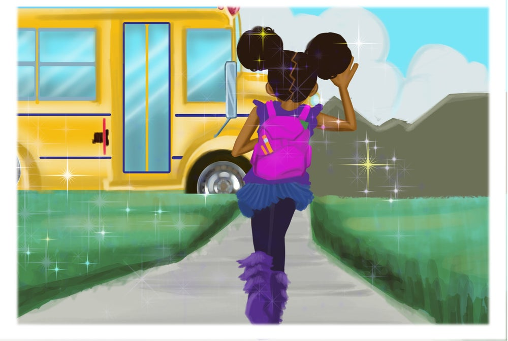 Image of Off to school limited edition print