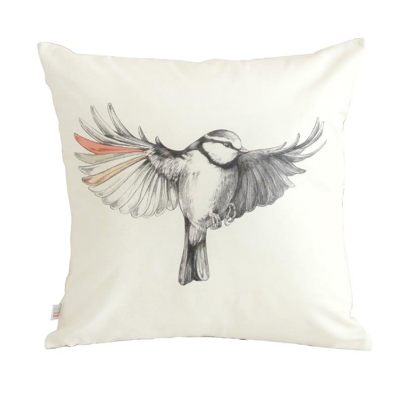 Image of Grand coussin oiseau 45x45cm -50%