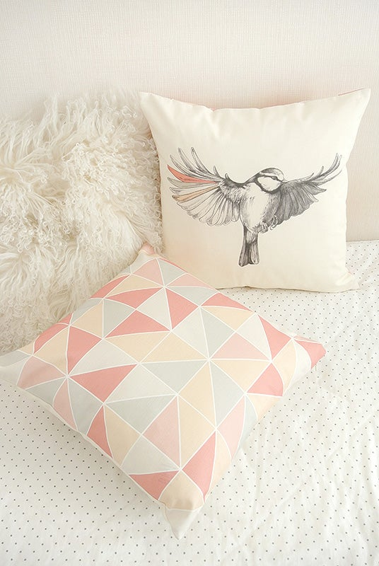 Image of Grand coussin oiseau 45x45cm -50%