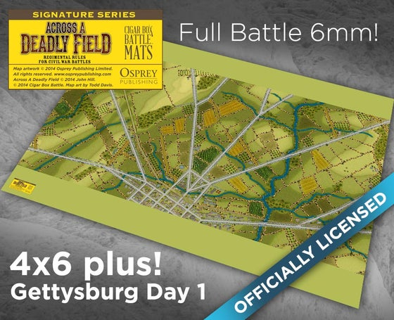 Image of ADF Gettysburg Day 1 Small Scale 6mm -- 4'x6' plus -- #132