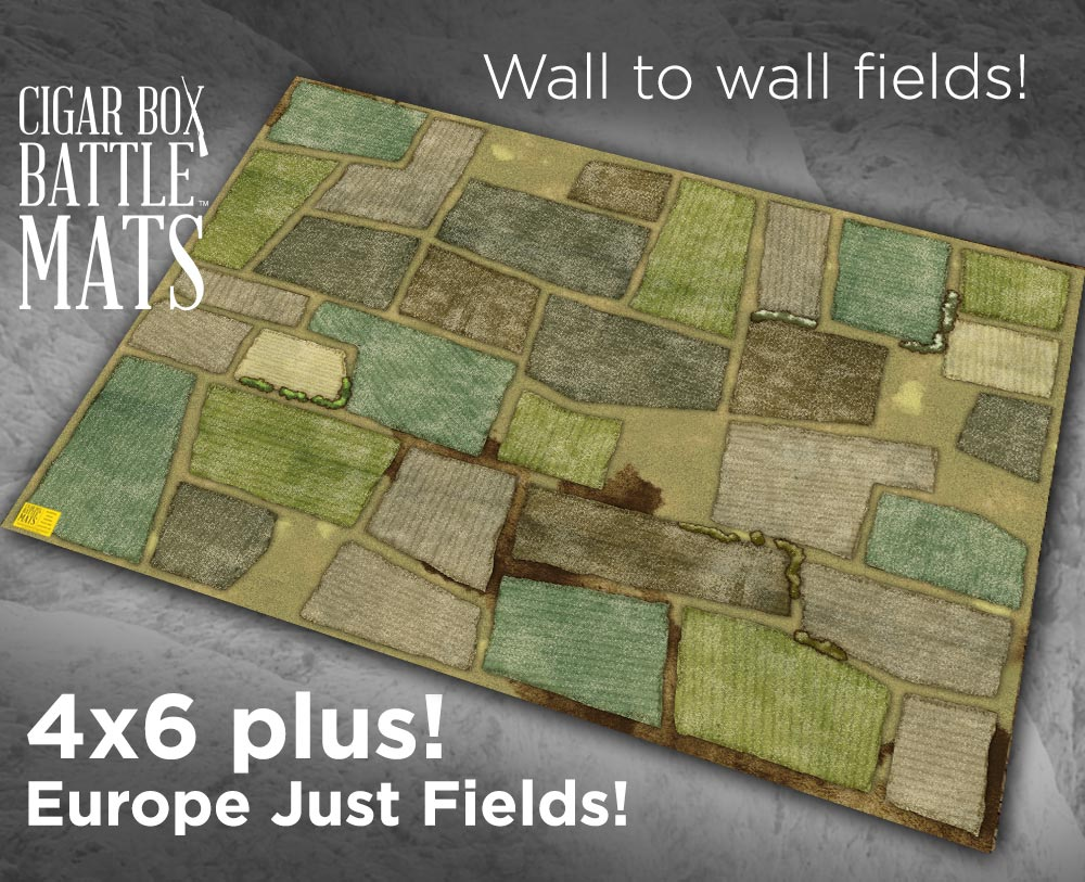 Image of Europe Just Fields Battle Mat -- 4'x6' plus -- #136