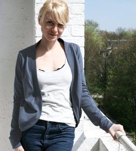 Image of Jäckchen aus Jersey - blaugrau