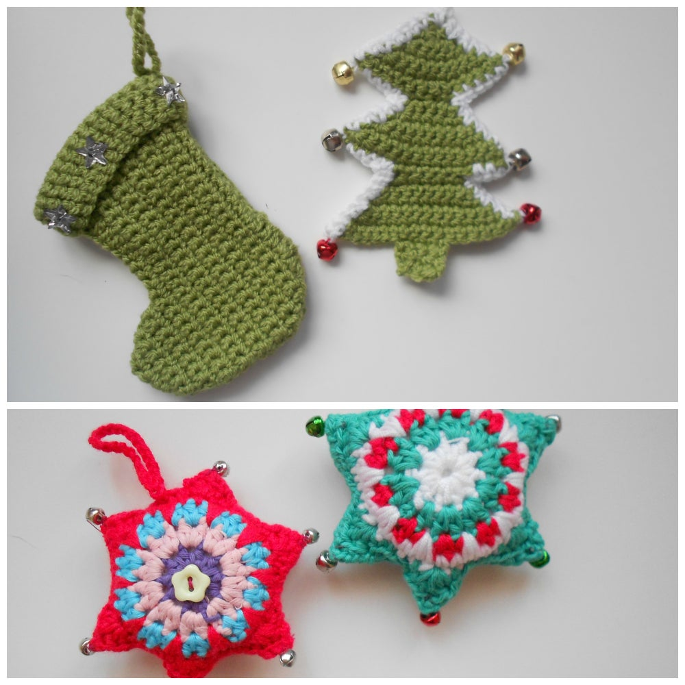 image of crochet christmas decorations