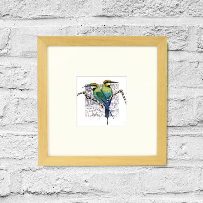 Image of Rainbow Bee Eater - Framed Print