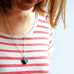 Image of Blackbird pendant necklace