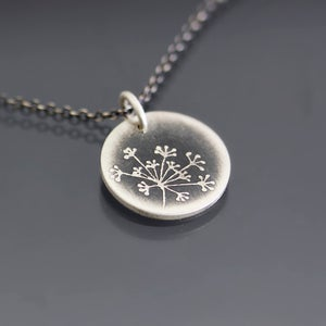 Image of Tiny Queen Anne's Lace Necklace