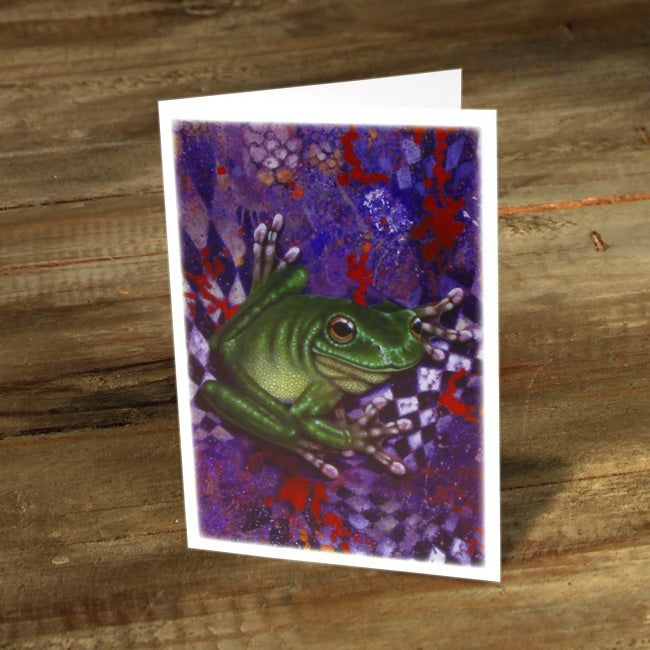 Image of Green Tree Frog Suspected of Substance Abuse - Gift Card
