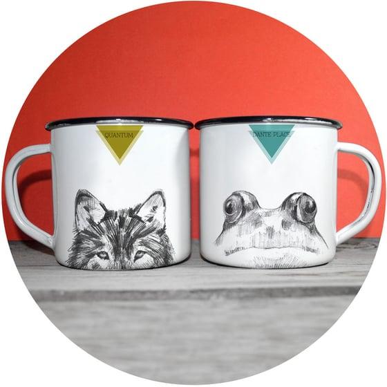 Image of Enamel Mugs / Tazas de acero