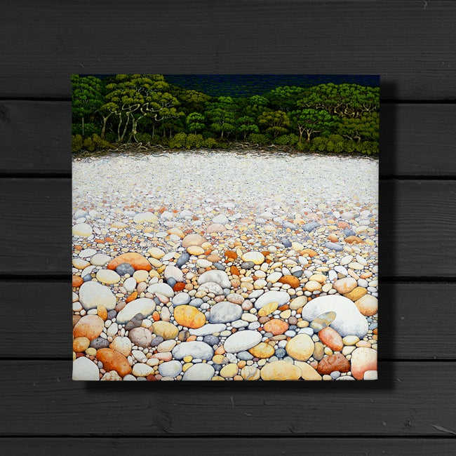 pebble beach canvas print david h stacey