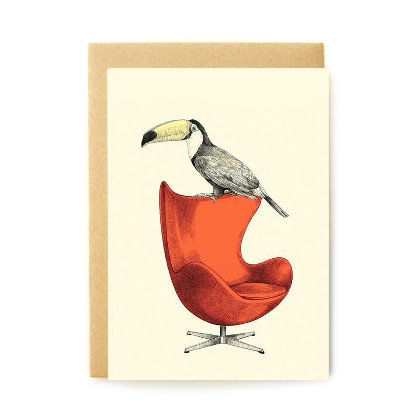 Image of Carte postale Toucan + enveloppe