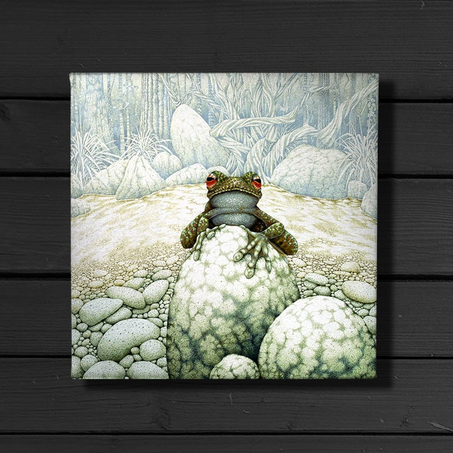 Image of Green-Eeyed Tree Frog - Canvas Print
