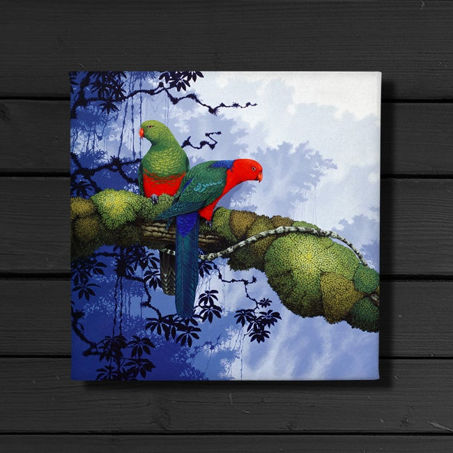 Image of King Parrots - Canvas Print