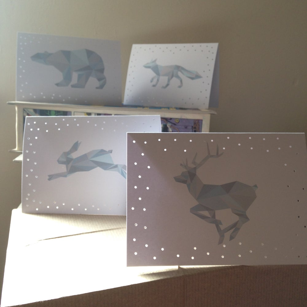 Image of Geometric Animal Card