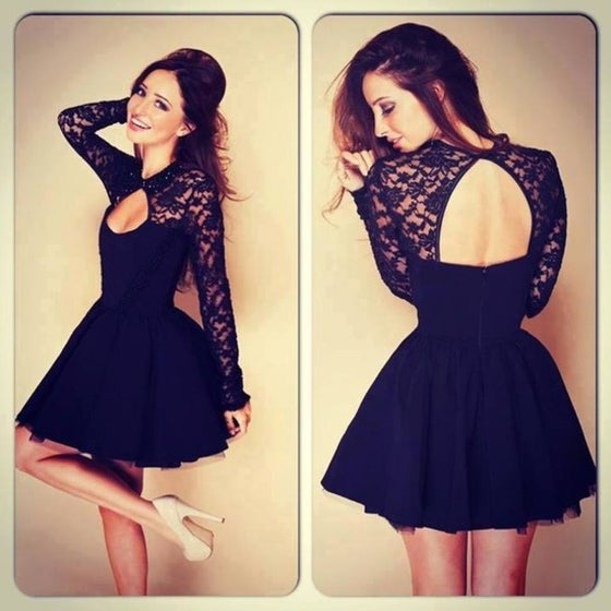 Image of Stitching lace dress AZ910CF