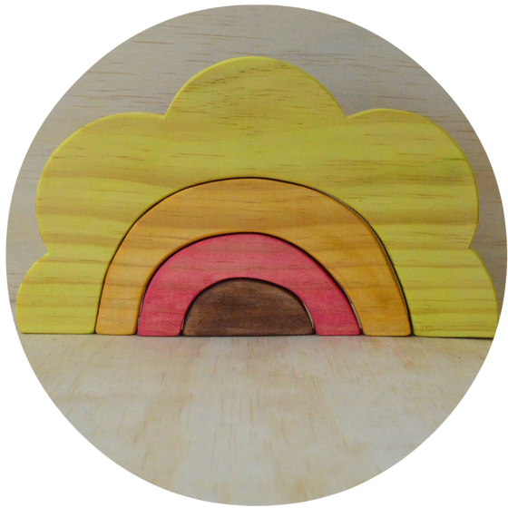 Image of Sunrise / Sunflower Wooden Stacker