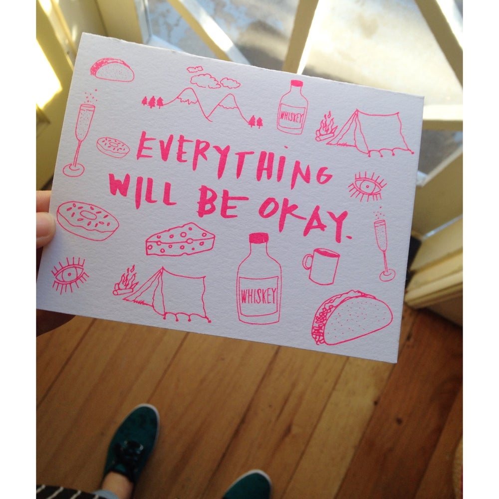 Image of everything will be okay. | greeting card