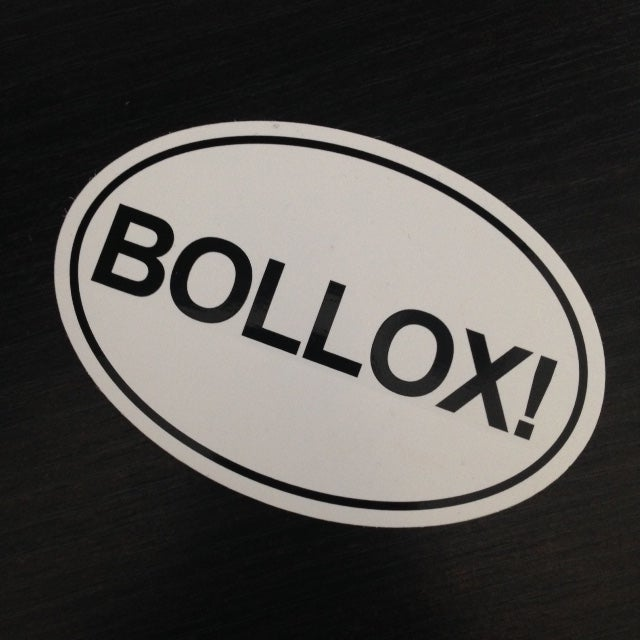 Image of Bollox! sticker