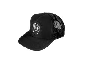 "Image of ""Monogram"" Trucker Hat, Black (P1B-T0522)"