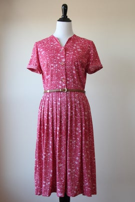 Image of SOLD Pink Floral Maze Dress (Orig $65)