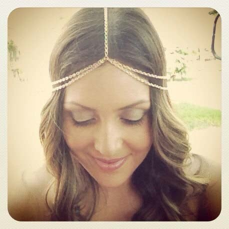 Image of Bohemian Gold Chain Headpiece