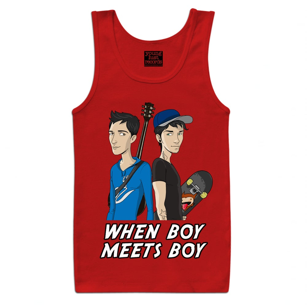Image of BOY MEETS BOY - RED (Limited Edition UNISEX Vest)