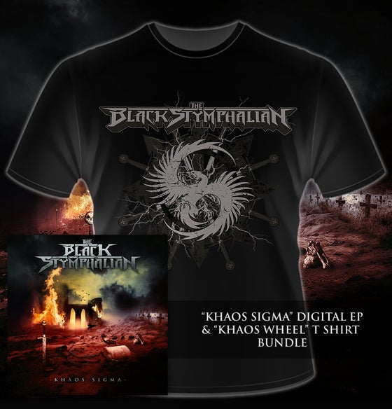 "Image of The Black Stymphalian - Khaos Sigma EP & ""Khaos Wheel"" T-Shirt"