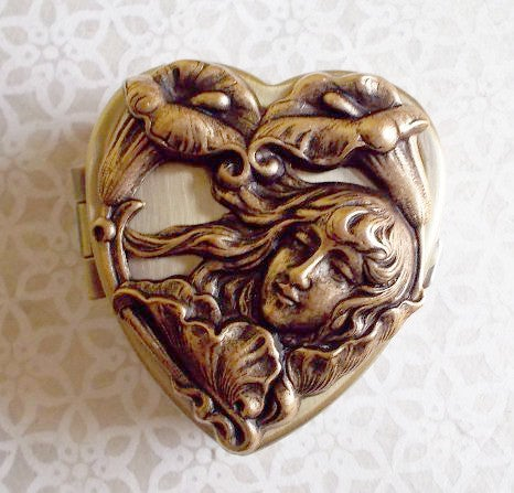 Image of Tiny Music Box Locket (Sepia) - choose your tune