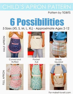 Image of Child's Apron Pattern - PDF sewing pattern