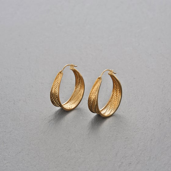 Image of Palmyrah Earrings Gold