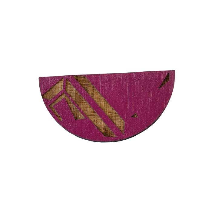Image of Segment semi circle brooch pin