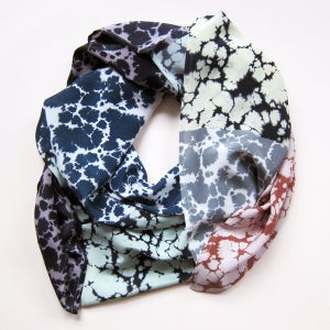Image of Silk Scarf / Marble Geometric