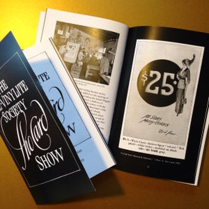 Image of The Pre-Vinylite Society Show Card Show Companion Booklet
