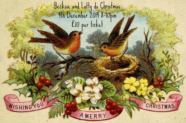 Image of Becksie and Lotty do Christmas