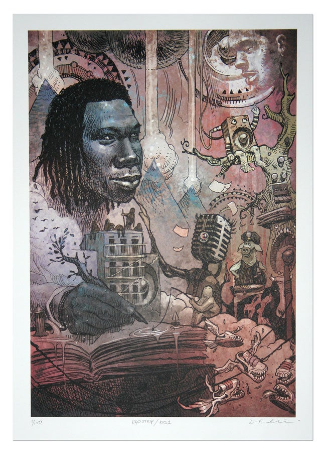 Image of KRS-ONE - Lithograph Print
