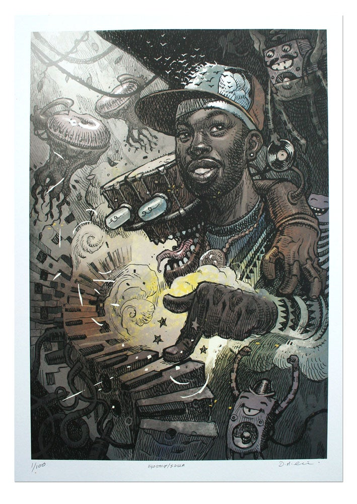 Image of J Dilla - Lithograph Print