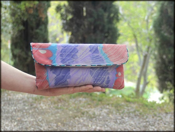 Image of Envelope Clutch ~ Rippling Beauty