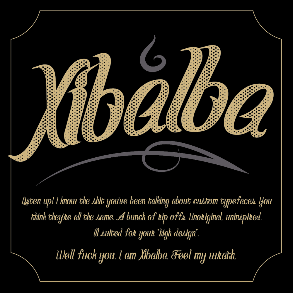 Image of Xibalba - A Custom Hand-Lettered Typeface