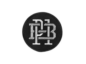 "Image of ""Monogram"" Patch, Black/White (P1B-T0553)"