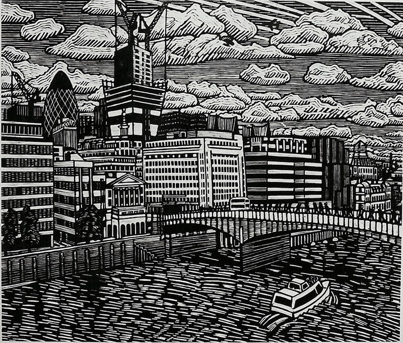 Image of New Birth in the City, linocut print, 2014, 67x 52 cm, edition of 100