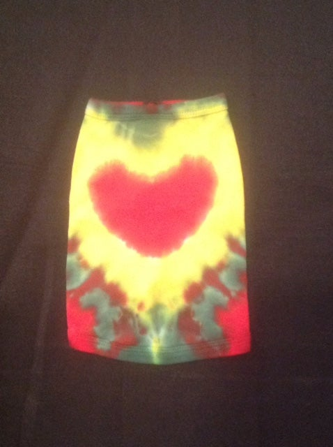 Image of Rasta Heart Tie Dye - Dog Tee