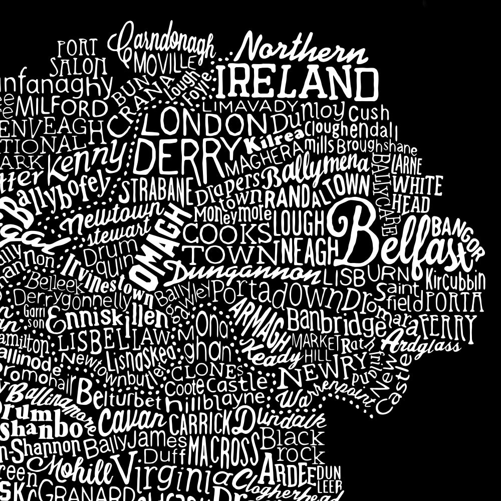 Ireland Type Map (Black, 2014)